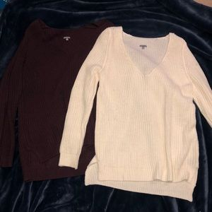 Two cozy sweaters